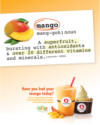 """Month of the Mango"" at Red Mango.  (PRNewsFoto/Red Mango)"
