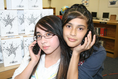 The Million Gives Free Cell Phones To Students for Academic Achievement.  (PRNewsFoto/TracFone Wireless, Cortney Kegans)