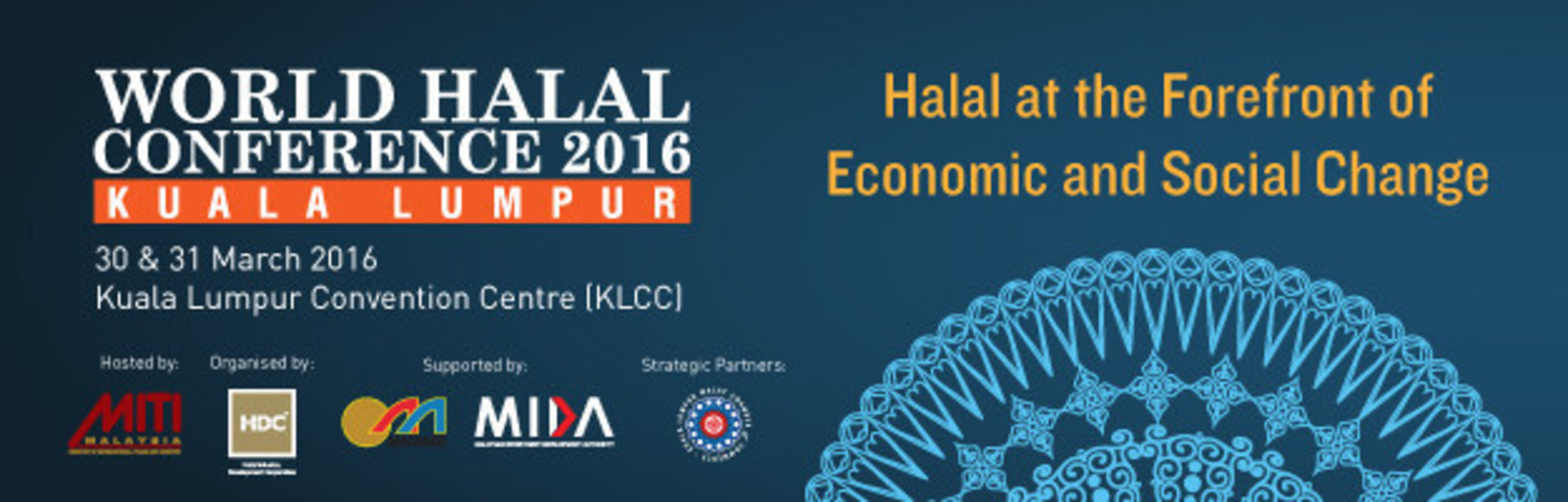 World Halal Conference 2016 on 30th & 31st March at Kuala Lumpur City Centre, Malaysia