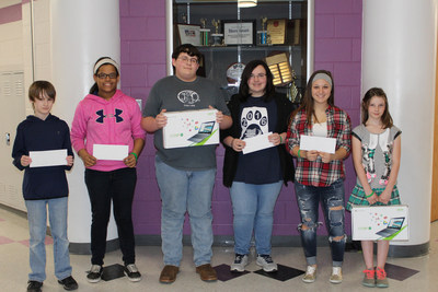 Students at Martins Ferry City Schools stand with Incentive Awards they received for successful participation in the school's STEM+ Academy.