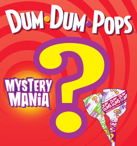 Spangler Candy Company Launches Dum Dums Mystery Mania Sweepstakes. Consumers are challenged to guess the flavor of special Mystery Mania Dum Dums for a chance to win $2,500. Also up for grabs are $50 Visa gift cards and special Dum Dums cinch sacks. The Mystery Mania sweepstakes ends December 31, 2011.  (PRNewsFoto/Spangler Candy Company)