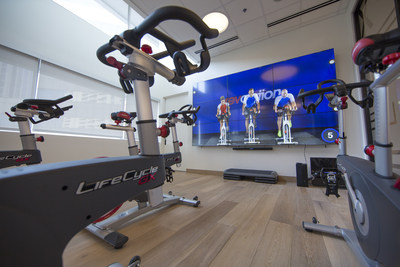 Marriott Fitness Center with LG Electronics videowall.