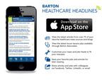 Barton Healthcare Headlines for iOS.  (PRNewsFoto/Barton Associates)