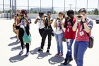 Boys & Girls Clubs kids try out their new Sony cameras at the National Digital Arts Festival held in San Diego in July.