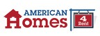 """American Homes 4 Rent is a leader in the single-family home rental industry and """"American Homes 4 Rent"""" is fast becoming a nationally recognized brand for rental homes, known for high quality, good value and tenant satisfaction.  We are an internally managed Maryland real estate investment trust, or REIT, focused on acquiring, renovating, leasing, and operating attractive single-family homes as rental properties. As of March 31, 2014, we owned 25,505 single-family properties in selected submarkets in 22 states. (PRNewsFoto/American Homes 4 Rent)"""