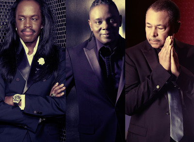 (left-right Verdine White, Philip Bailey, Ralph Johnson)