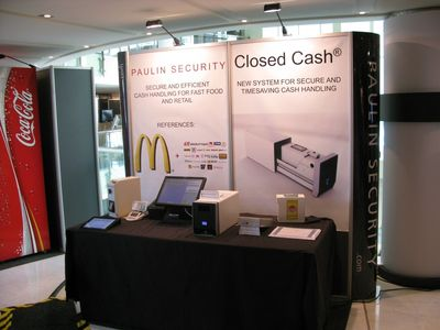 Between the 8th and the 11th of November 2011, McDonald´s Nordic held their annual convent in Monaco. Paulin Security was invited as a key supplier to present its product portfolio and to present different cash handling solutions. Paulin Security also presented a completely new product idea, ClosedCash. With this product, Paulin Security intends to enter the market of so-called closed cash systems. These closed cash systems are now being introduced in Europe but are very costly. Paulin Security's solution is planned to be more economical and easier to install than the systems currently being offered on the market. (PRNewsFoto/Paulin Security)