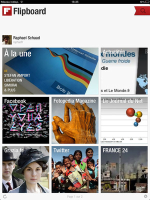 Flipboard for iPad, French Edition launched on March 1, 2012.  (PRNewsFoto/Flipboard)