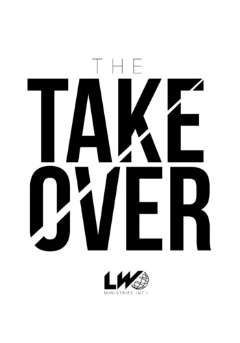 The Take Over Movement taking place on July 20th at the Peabody Auditorium in Daytona Beach, FL. For more information, log onto www.LTW43.com.  (PRNewsFoto/Leonard Weaver Family Foundation)