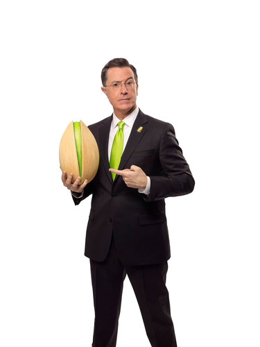 "Stephen Colbert Makes Super Bowl Debut with Wonderful Pistachios. Wonderful Pistachios Returns to the Super Bowl with Two New Spots, New Campaign Theme, ""Get Crackin', America."" For more information visit GetCrackin.com. (PRNewsFoto/Wonderful Pistachios) (PRNewsFoto/WONDERFUL PISTACHIOS)"
