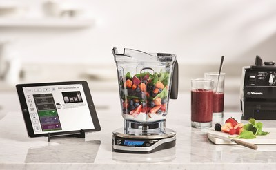 With the Vitamix Perfect Blend Smart Scale & Recipe App, creating a blended soup, smoothie, dressing or any blended recipe is easy.