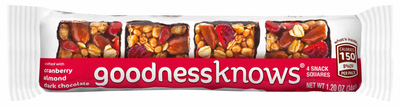 Mars Chocolate North America introduces goodnessknows(R) Snack Squares -- available in three flavors.