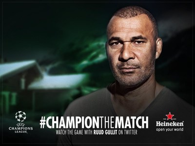 UEFA Champions League legends enhance the game experience with live Twitter commentary on match day.