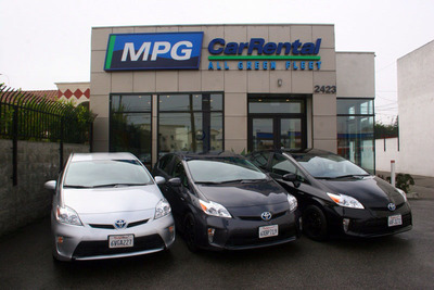 MPG Car Rental - All Green Fleet. (PRNewsFoto/MPG Car Rental)