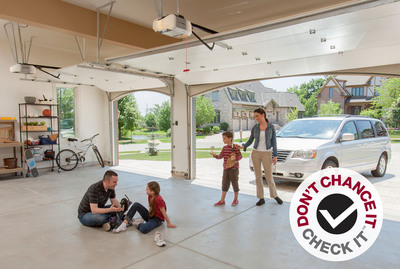 Take Preventive Measures to Keep Your Garage and Family Safe. LiftMaster Launches Don't Chance It. Check It.(TM) Safety Initiative Encouraging Families to Take Three Simple Steps to Check the Overall Safety of their Garage Doors.  (PRNewsFoto/LiftMaster)