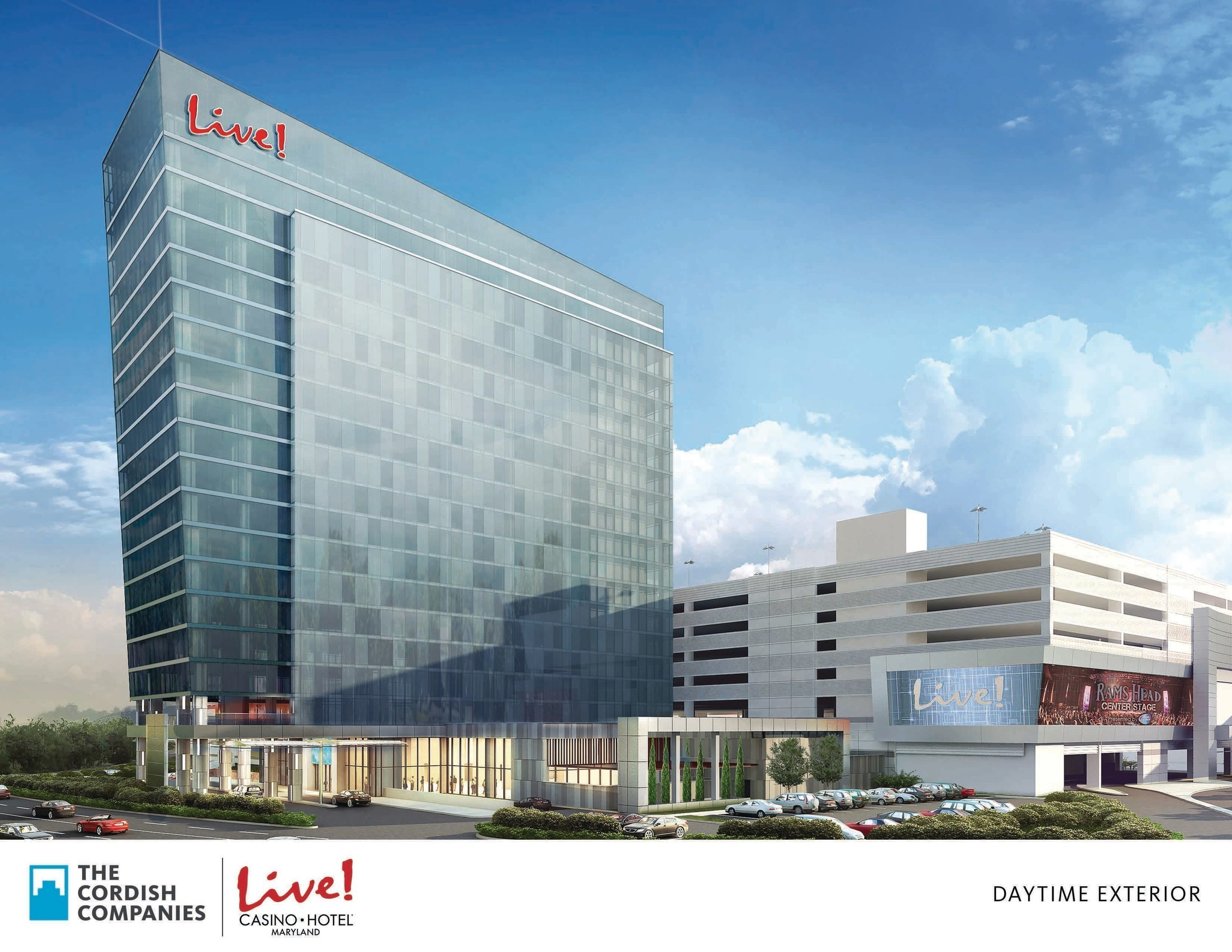The Cordish Companies today broke ground on the new $200 million flagship Live! Hotel at Maryland Live! Casino, in Hanover, MD. The 350,000- square- foot property features a 17-story hotel tower, making it the tallest building in Anne Arundel County, with 310 guest rooms, an event center, meeting spaces, new dining options, and a day spa/salon. It is the first hotel in the country to carry the Live! brand. Projected completion in early 2018.
