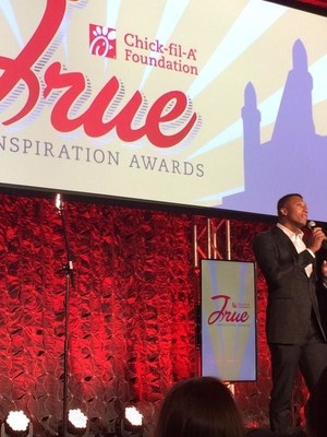 Grammy Award winning hip hop recording artist Lecrae hosted the Chick-fil-A Foundation's inaugural True Inspiration Award celebration on Friday, September 4 in Atlanta.