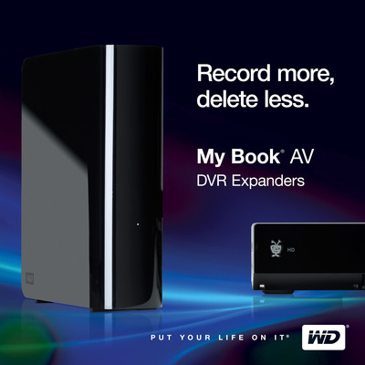 My Book AV DVR Expander: Record More, Delete Less.  (PRNewsFoto/Western Digital Technologies)