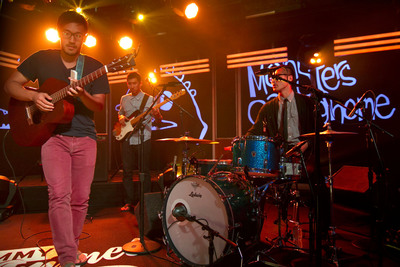 "Indie band Monsters Calling Home made a music video in their Hondas. So Honda showed them a big dose of love on ""Jimmy Kimmel Live."" (PRNewsFoto/Honda, Brian Kim)"