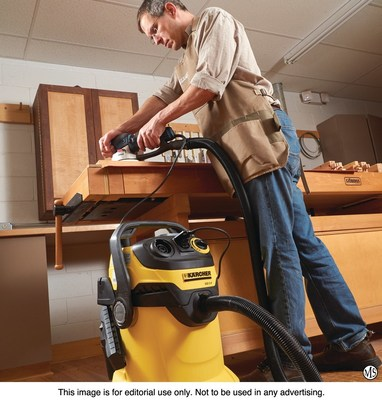 The Karcher WD5/P Wet/Dry Shop Vacuum is a versatile cleaning tool that is among holiday gift suggestions from Woodcraft.