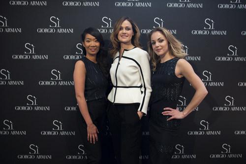 Kee Yoon Kim, Cecile Schmollgruber, Charlotte Ranson (C)Virgile Guinard-SayWho (PRNewsFoto/Giorgio Armani ...