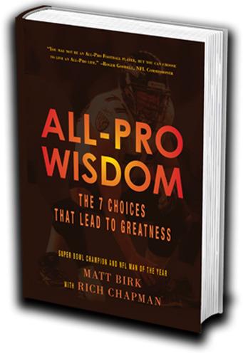 All-Pro Wisdom Cover. (PRNewsFoto/Matt Birk and Rich Chapman) (PRNewsFoto/MATT BIRK AND RICH CHAPMAN)