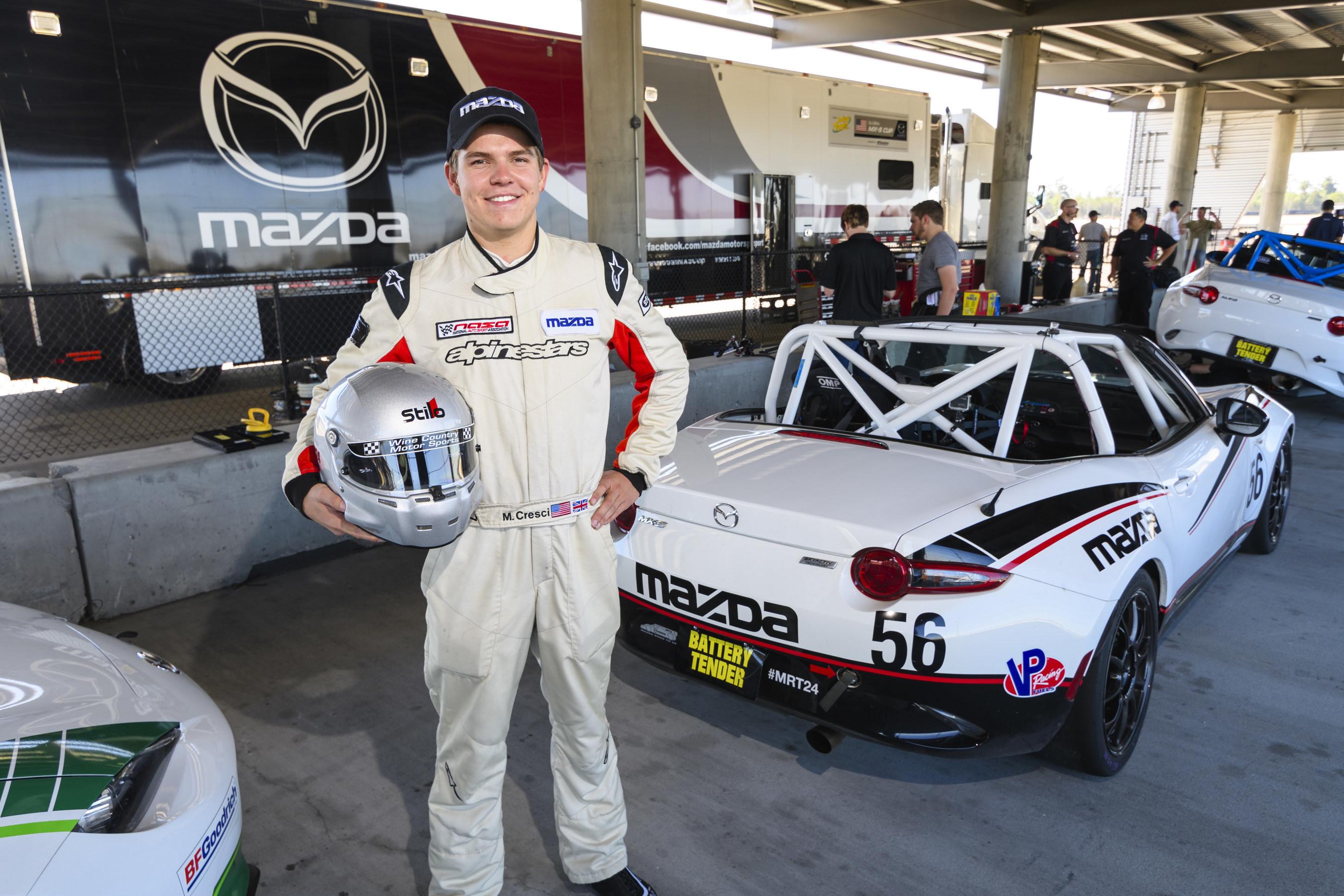 Matt Cresci Wins 2016 Mazda Road to 24 Shootout