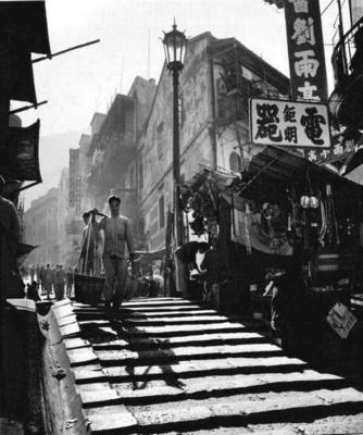 'Ladder Street' by Fan Ho (Year 1961) is being installed at The Pottinger Hong Kong (PRNewsFoto/Sino Group of Hotels)