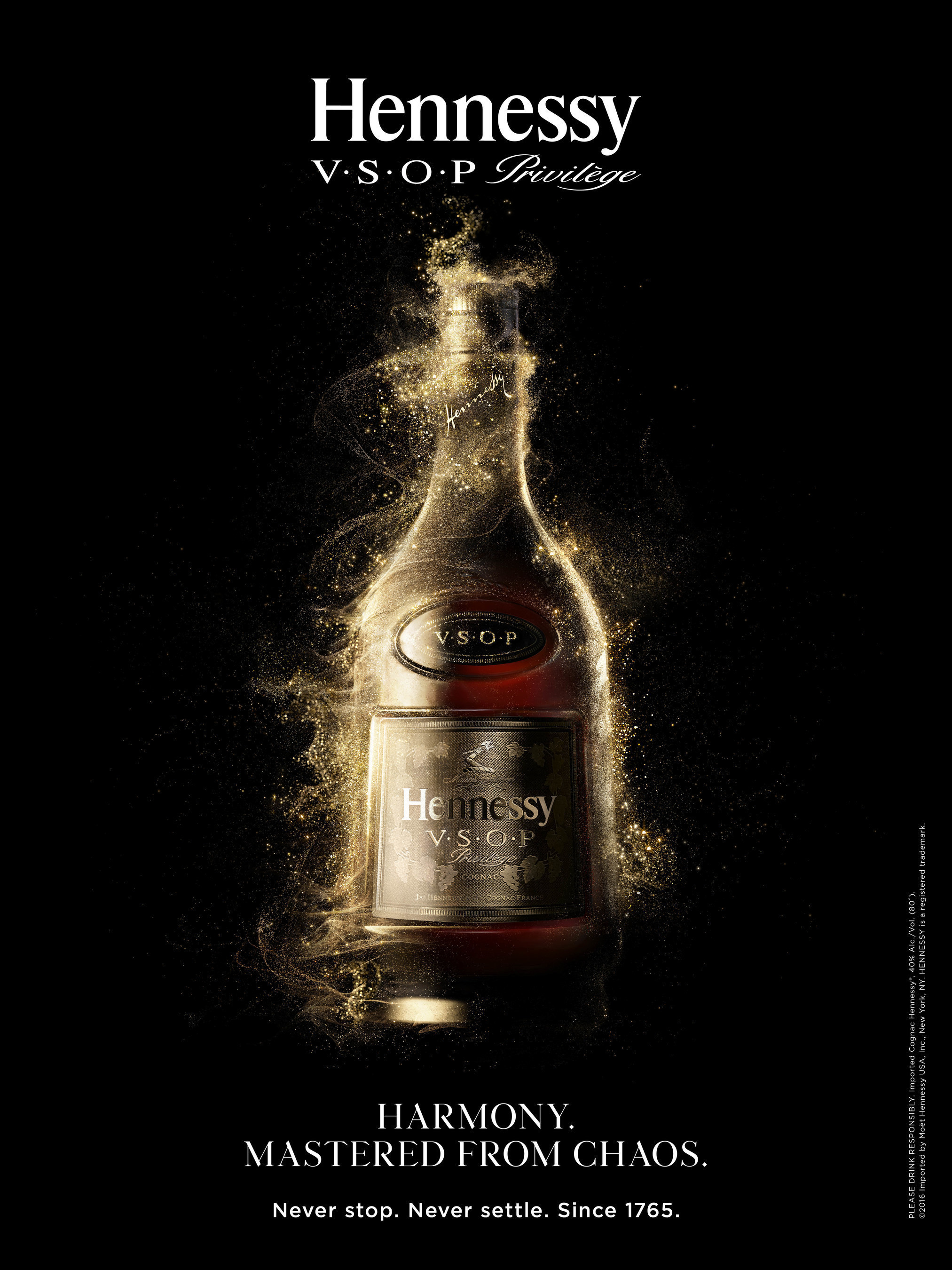 """The """"Harmony. Mastered from Chaos."""" campaign showcases the numerous, complex variables that are mastered in order to create the harmony and balance of Hennessy V.S.O.P Privilège."""