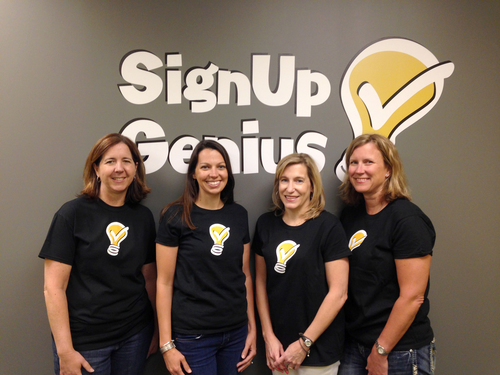 SignUpGenius Customer Support Team (from left to right): Teresa Clark, Rebecca Caswell, Amy Tidwell, Kirsten Mayers (PRNewsFoto/SignUpGenius )