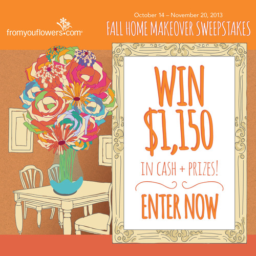 From You Flowers Launches Fall Home Makeover Sweepstakes.  (PRNewsFoto/From You Flowers)