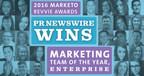"PR Newswire Wins ""Marketing Team of the Year, Enterprise"" in the 2016 Marketo Revvie Awards"