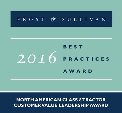 Allison Transmission Receives 2016 North American Class 8 Tractor Customer Value Leadership Award