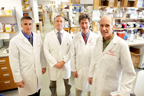 Researchers from the Perelman School of Medicine at the University of Pennsylvania report today on the latest results of their breakthrough gene transfer treatment for leukemia.  (PRNewsFoto/Perelman School of Medicine at the University of Pennsylvania, Philadelphia Inquirer)