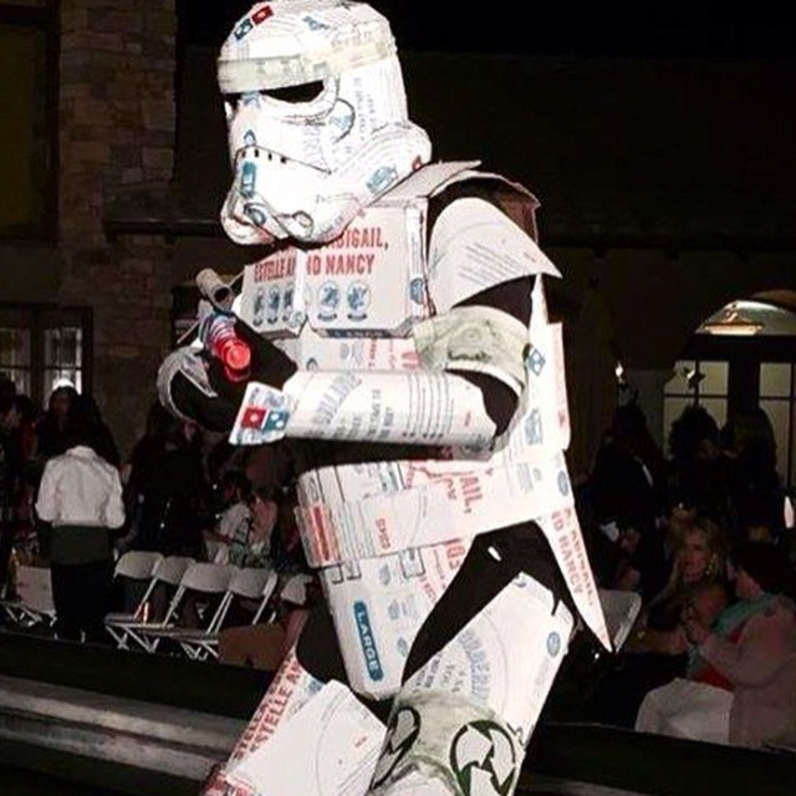 Domino's inspired stormtrooper created by local Los Angeles artist, Philip Figueroa