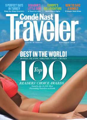 November 2010 Cover of Conde Nast Traveler.  (PRNewsFoto/Conde Nast Traveler)