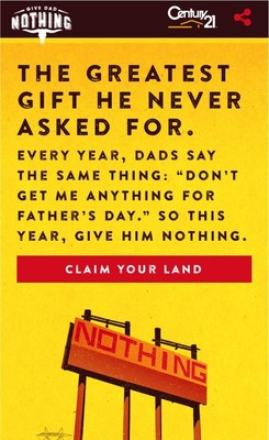 Give Dad Nothing Microsite