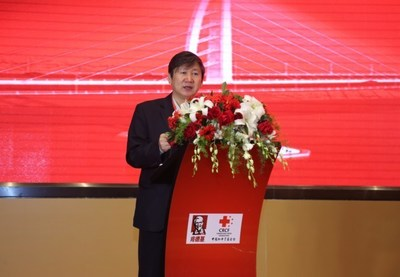 Liu Xuanguo, Vice General Secretary of CRCF, delivering speech