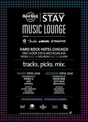 Hard Rock Hotels & Casinos to Turn Up Lollapalooza Experience -- The Sound of Your Stay(R) Music Lounge Hits Hard Rock Hotel Chicago in Partnership with Beats Music, Fender and Traktor, among others (PRNewsFoto/Hard Rock Hotels & Casinos)