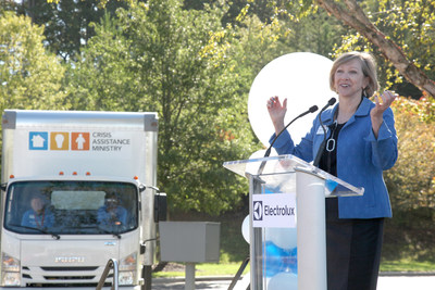 Electrolux Surpasses One Million Dollars in Appliance Donations to Charlotte Organizations; Donates Truck to Crisis Assistance Ministry in Honor of Milestone