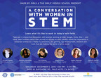 """A thrilling opportunity to meet and hear from some of the great women of tech, """"A Conversation with Women in STEM"""" also provides tech exhibits and more. Happening this Saturday in Palo Alto at The Girls' Middle School, between 1 p.m. and 3:30 p.m. Attendance is free and open to all girls!"""