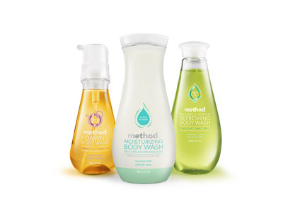 New coconut milk moisturizing body wash joins foaming and refreshing formulas to round out method's naturally derived body wash line.