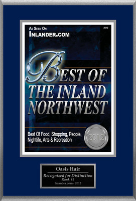 "Oasis Hair Selected For ""Best Of The Inland Northwest.""  (PRNewsFoto/Oasis Hair)"