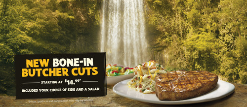 Make your holiday special with special bone-in steaks. The new limited-time menu addition of Butcher Cut ...