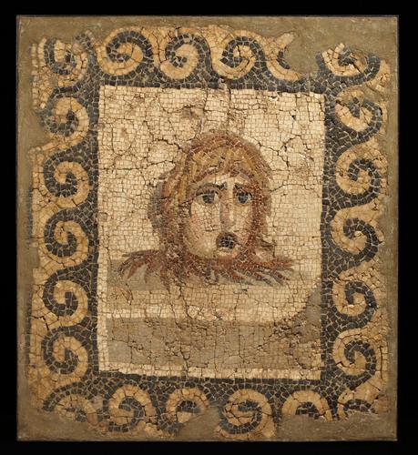 Rupert Wace Ancient Art Limited. Roman Mosaic featuring a theater mask, c. 2nd century A.D. (PRNewsFoto/Winter ...