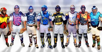 Atlantic League debuts new, eye-catching Rawlings catcher's gear designs