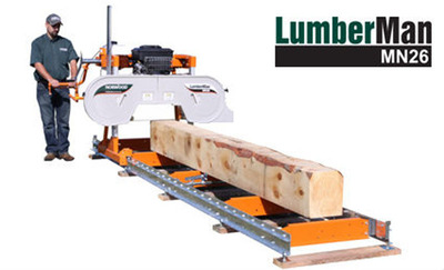 Norwood Launches the LumberMan MN26 Portable Sawmill for Hobbyists and Woodworking Enthusiasts (PRNewsFoto/Norwood Industries Inc.)