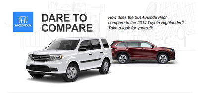 The 2014 Honda Pilot is priced lower than the similarly-equipped 2014 Toyota Highlander. (PRNewsFoto/Matt Castrucci Honda )