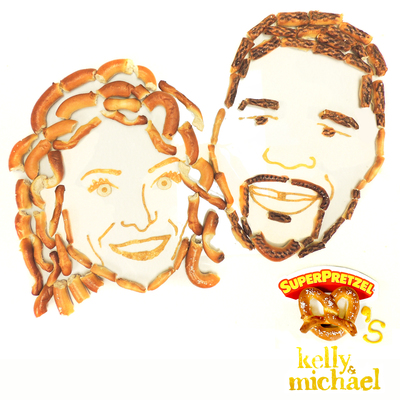 LIVE With Kelly & Michael hosts, Kelly Ripa and Michael Strahan (PRNewsFoto/J&J Snack Foods Corp.)