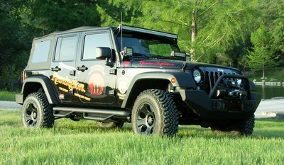 The top fundraiser of the Remington Great Americans Shoot will win a custom 2014 Jeep Wrangler Unlimited. Visit https://rgas.dojiggy.com for more information on how to donate. (PRNewsFoto/Remington Great Americans Shoot)